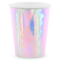 PartyDeco Bekers Iridescent -6st-