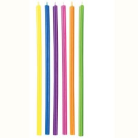 Wilton Candles Long Mulitcolor -12st-