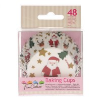 FunCakes Baking Cups Christmas -48st-