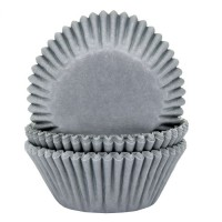 House of Marie Baking Cups Effen Grijs -50st-