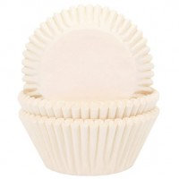 House of Marie Baking Cups Effen Ivoor -50st-