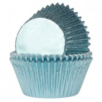 House of Marie Mini Baking Cups Folie Baby Blauw -36st-