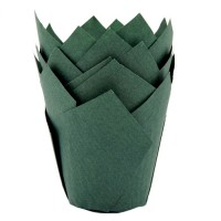 House of Marie Muffin Cups Tulp Donkergroen -36st