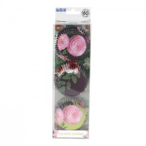 PME Baking Cups Country Garden -60st-