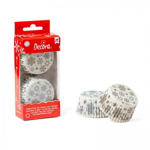 Decora Baking Cups Gold & Silver Stars -36st-