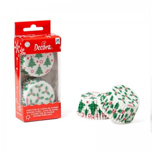 Decora Baking Cups Holly & Tree -36st-