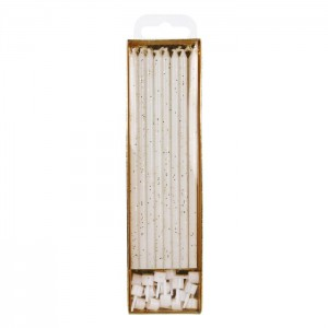 PME Extra Tall Candles Glitter 18cm -16st-