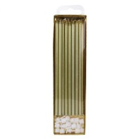 PME Extra Tall Candles Gold 18cm -16st-