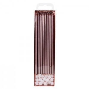 PME Extra Tall Candles Rose Gold 18cm -16st-