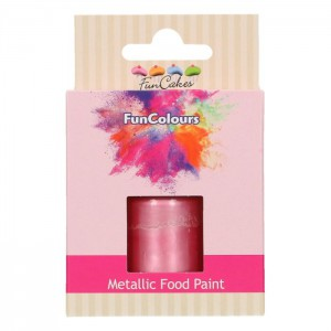FunCakes FunColours Metallic Food Paint Baby Pink -30ml-