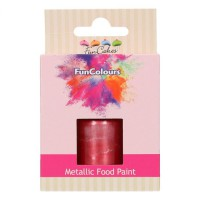 FunCakes FunColours Metallic Food Paint Cerise -30ml-
