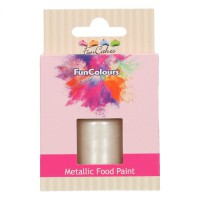 FunCakes FunColours Metallic Food Paint Pearl White -30ml-
