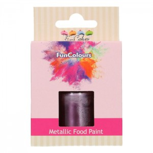 FunCakes FunColours Metallic Food Paint Purple -30ml-