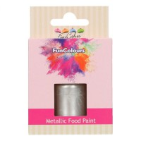 FunCakes FunColours Metallic Food Paint Silver -30ml-