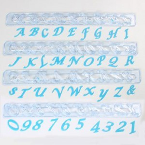 FMM Tappits Alphabet & Numbers Upper Case Cursief
