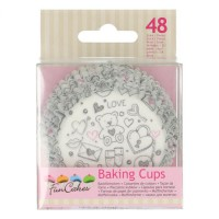 FunCakes Baking Cups Love Double -48st-