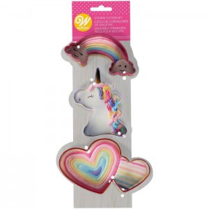 Wilton Cookie Cutter Set Magical Unicorn -3st-