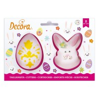 Decora Cookie Cutter Set Egg & Bunny -2st-