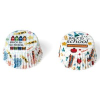 Decora Baking Cups Back to School -36st-