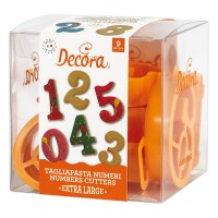 Decora Cookie Cutter Set Giant Numbers -8st-