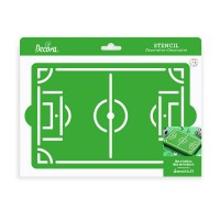 Decora Stencil Football Field -20x30cm-