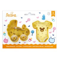 Decora Cookie Cutter Set Babygro & Pram -2st-