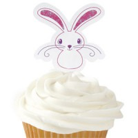 Wilton Cupcake Toppers Paashaas -12st-