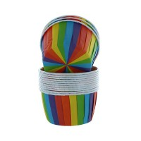 Culpitt Baking Case Cup Rainbow -24st-