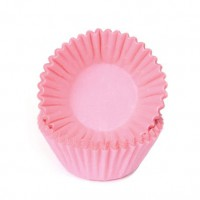 House of Marie Chocolade Baking Cups Pastel Roze -100st-