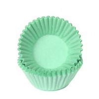House of Marie Chocolade Baking Cups Pastel Mint -100st-