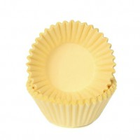 House of Marie Chocolade Baking Cups Pastel Geel -100st-