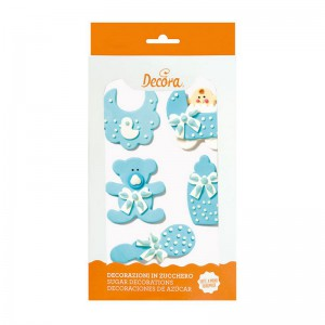 Decora Sugar Decoration Baby Blue -5st-