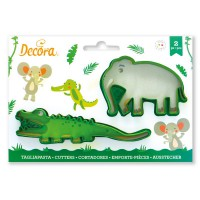 Decora Cookie Cutter Set Crocodile and Elephant -2st-