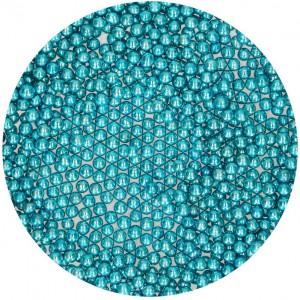 FunCakes Parels Metallic Blauw 4mm -80gr-