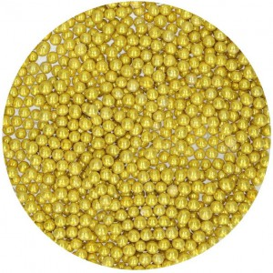 FunCakes Parels Metallic Goud 4mm -80gr-