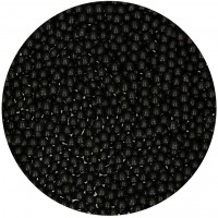 FunCakes Parels Zwart Glans 4mm -80gr-