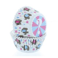 Baked With Love Foil Baking Cups Baby Elephant -50st-