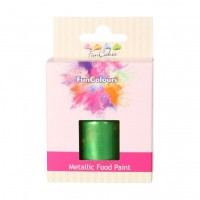FunCakes FunColours Metallic Food Paint Bright Green -30ml-