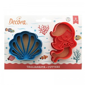 Decora Cookie Cutter Set Mermaid and Shell -2st-