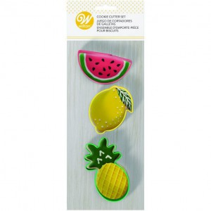 Wilton Cookie Cutter Set Tropical Fruit -3st-